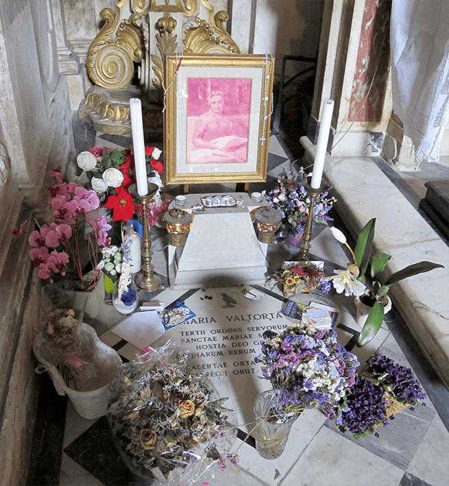 tomba e lapide di Maria Valtorta